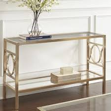 gold console u0026 sofa tables you u0027ll love wayfair