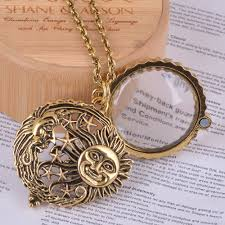 glass star pendant necklace images Magnifier glass pendant sun with moon and stars necklace antique jpg