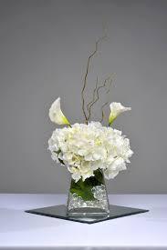 Hydrangea Centerpiece Short White Hydrangea Centerpiece Classy Coversclassy Covers