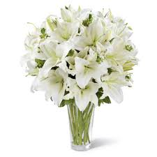 white lillies tranquil white lilies bouquet at send flowers
