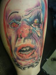 evil clown tattoo design on leg in 2017 real photo pictures
