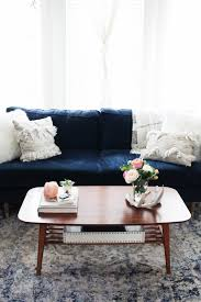 Feminine Living Room Urban Outfitters Coffee Table With Navy Couch In Feminine Living