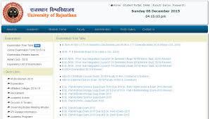rajasthan university time table 2017 uniraj datesheet ug pg