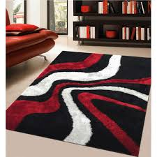 Yellow Area Rug 5x7 Incredible Rug Addiction Hand Tufted Polyester Red And Black Shag