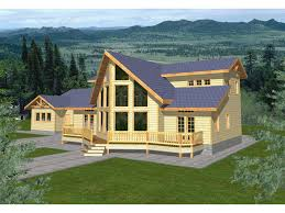 chalet style house plans house plan 119 367 the revised kitchen also stairway moved