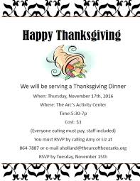 thanksgiving dinner the arc of the ozarks springfield mo