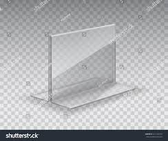 acrylic table card holder isolated on stock vector 671123764