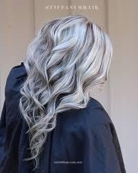 silver hair with blonde lowlights platinum blonde with lowlights by tiffany tiffany blondes and