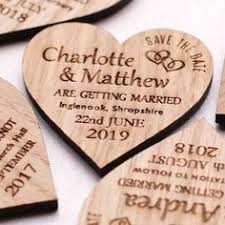 affordable save the dates wooden heart save the date wedding magnets coloured hearts nivi