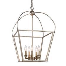 bel air lighting agnew 5 light antique silver leaf pendant 10815 Antique Silver Pendant Lights