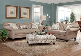 Amazoncom Roundhill Furniture Metropolitan Taupe Fabric - Whole living room sets