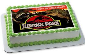 Jurassic Park Decorations Jurassic Park Edible Birthday Cake Or Cupcake Topper U2013 Edible