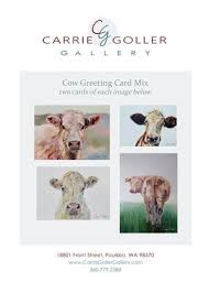 cow greeting cards greeting card mix cows carrie goller gallery