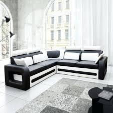 canapé blanc d angle canape canape d angle noir et blanc deco in cuir