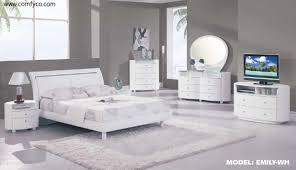 Contemporary White King Bedroom Set White King Bedroom Furniture Vivo Furniture
