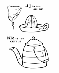 abc alphabet coloring sheet juice kettle