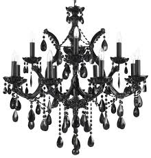 Crystal And Black Chandelier Maria Theresa Chandelier Crystal Jet Black Traditional