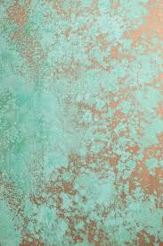 copper paint with green patina activator painting walls