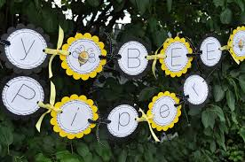 bumble bee decorations birthday banner bumble bee theme happy bee day so sweet