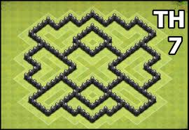Layout Design Th7   youtube kids clash of clans town hall 7 coc th7 base design