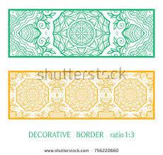 envelope border pattern decorative lace border ornamental panel doodle stock vector 2018