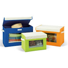 canvas storage box set with window 3 pack seville classics