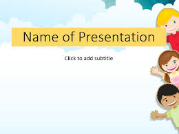 powerpoint kids template free powerpoint template for children