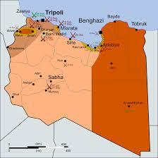 Civil War States Map Libya States Map