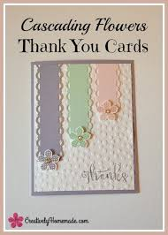 How To Make Punch Cards - cascading flowers easy handmade thank you cards spring colors