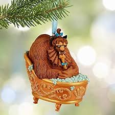 disney and the beast beast sketchbook ornament