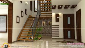 staircase bedroom dining interiors kerala home design and