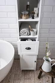 Amazon Bathroom Furniture by Stow Tallboy Bathroom Cabinet Hallway Storage Unit In White Noa