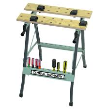 Portable Work Bench Folding Clamping Workbench With Movable Pegs Image Extraordinary