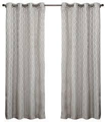 Baroque Bathroom Accessories Baroque Look Jacquard Grommet Top Curtains Contemporary