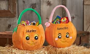 custom pumpkin halloween bag personalization mall groupon
