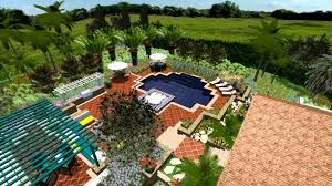 virtual presentation studio spanish villa in 3d landscape design