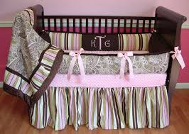 Pink And Green Crib Bedding Green And Pink Paisley Baby Bedding Baby Bed
