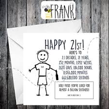 birthday cards for him rude alternative sarcastic birthday card 21st birthday