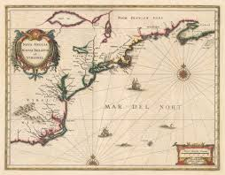 Map Of Southern Virginia by 1636 Nova Anglia Novum Belgium Et Virginia 1636 Published