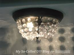 Diy Ceiling Light by Remodelaholic Update A Dome Ceiling Light With Faceted Crystals
