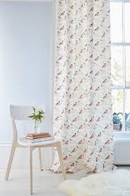 coral coloured curtain fabric striking cool neutral home decor