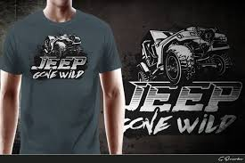 jeep shirt modern bold t shirt design for jeep gone wild by gek design