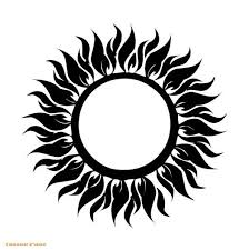 cool tribal sun tattoo design