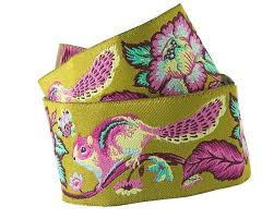 whole sale ribbon buy ribbon pink blue on green chipmunk tula pink renaissance