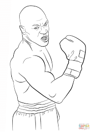 mike tyson coloring page free printable coloring pages