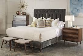 Silver Queen Bed Queen Silver Lake Upholstered Platform Bed By A R T Furniture Inc
