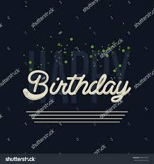classy happy birthday card mailing background stock vector
