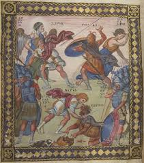 david and goliath paris psalter byzantine 10th century