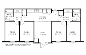 Student Center Floor Plan by 31b Student Health Center Gordon State College