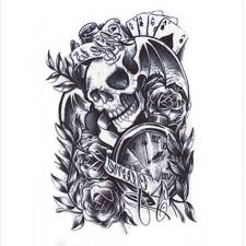 skull and guns tattoos gun skull gun n roses design tattoos